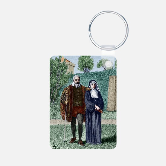Galileo and his daughter M Keychains