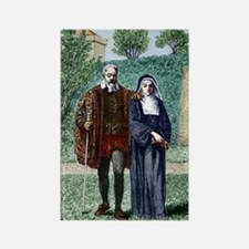 Galileo and his daughter Maria Ce Rectangle Magnet