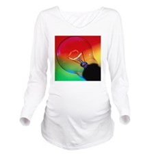 View of an lit elect Long Sleeve Maternity T-Shirt