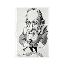Galileo Galilei, caricature Rectangle Magnet