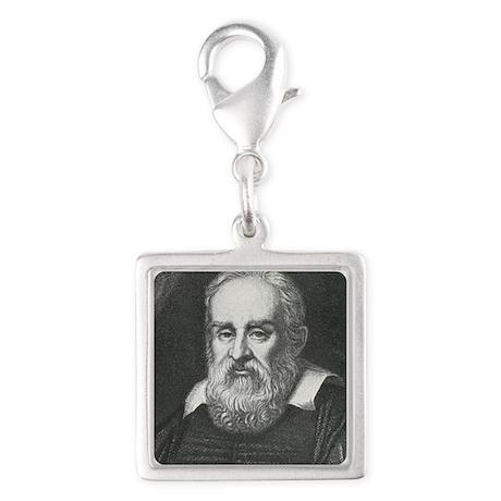Galileo, Italian astronomer Silver Square Charm