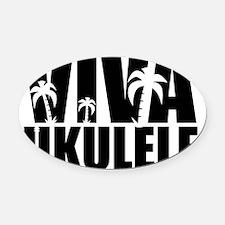 Viva Ukulele Oval Car Magnet