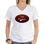 Team Beauceron Women's V-Neck T-Shirt