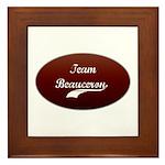 Team Beauceron Framed Tile