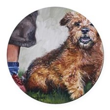 Norfolk Terrier Round Car Magnet