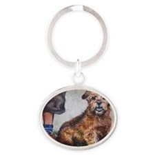Norfolk Terrier Oval Keychain