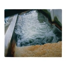 View of flotation waste water treatm Throw Blanket