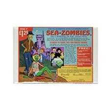 Sea -Zombies Rectangle Magnet