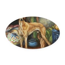 Saluki in the Tent Oval Car Magnet
