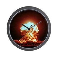 View of the Badger nuclear explosion Wall Clock