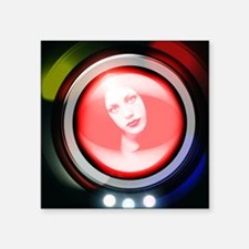 "Virtual human Square Sticker 3"" x 3"""