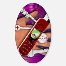 WAP mobile telephone Sticker (Oval)