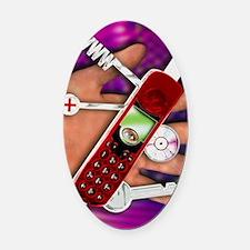 WAP mobile telephone Oval Car Magnet