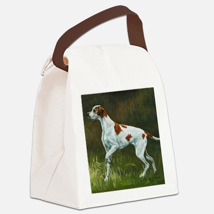 English Pointer Canvas Lunch Bag