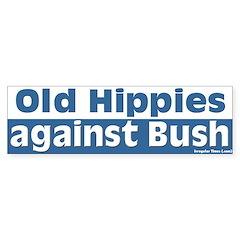 Old Hippies Against Bush Bumper Bumper Sticker