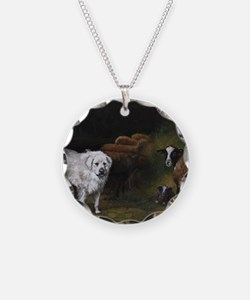 Great Pyrenees with Sheep Necklace