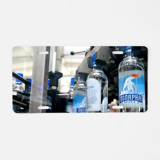 Vodka bottling machine Aluminum License Plate