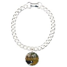 Border Collie and Sheep Charm Bracelet, One Charm