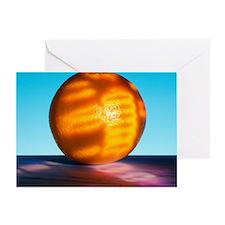 Genetically modified orange Greeting Card