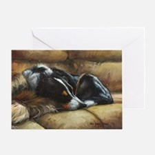 Border Collie on Couch Greeting Card