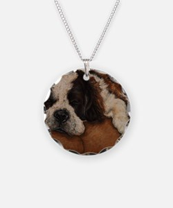 Saint Bernard Sleeping Necklace