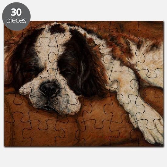 Saint Bernard Sleeping Puzzle