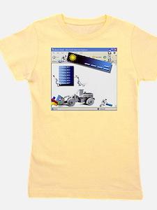 Website construction, computer artwork Girl's Tee