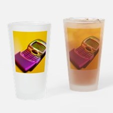 WAP mobile telephone Drinking Glass