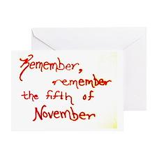 Remember, Remember Greeting Card