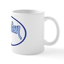 JewishOvalStickerLtBlueOnWhite Mug