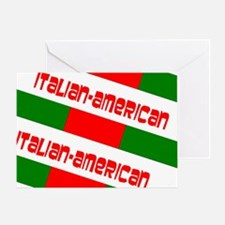 Red Green White Italian-American Des Greeting Card