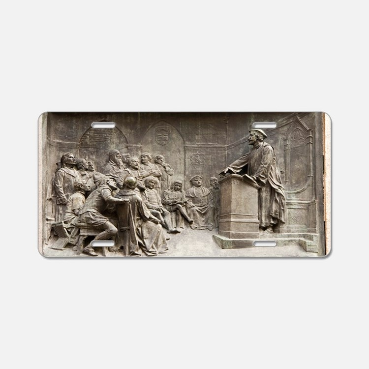 Giordano Bruno teaching Aluminum License Plate