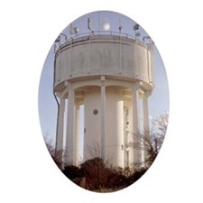 Water tower Oval Ornament