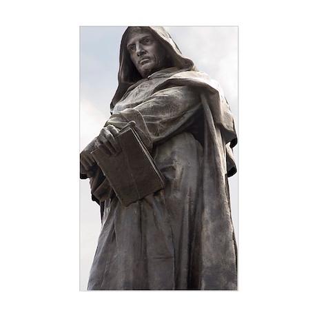 Giordano Bruno, Italian philos Sticker (Rectangle)