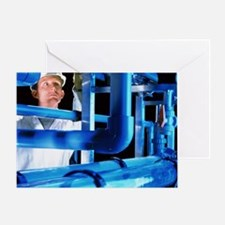 Water treatment plant Greeting Card