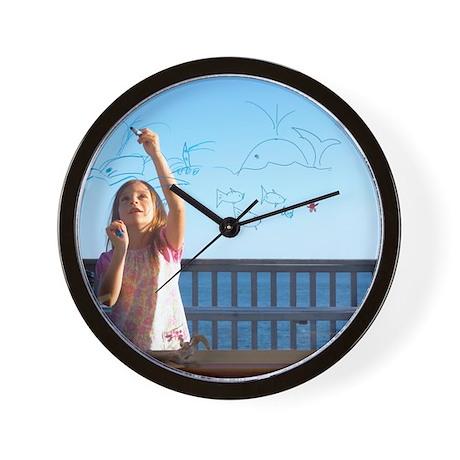 Girl drawing Wall Clock by Admin_CP66866535
