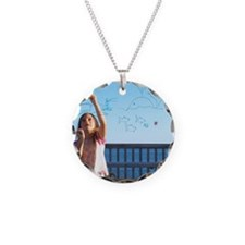 Girl drawing Necklace