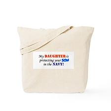 Cute Navy daughter Tote Bag