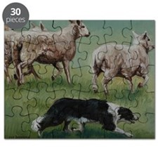 Border Collie on Sheep Puzzle