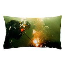 Welding underwater Pillow Case
