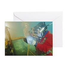 Welding underwater Greeting Card