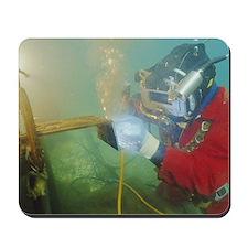 Welding underwater Mousepad