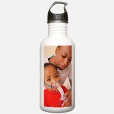 Girl with nebulizer Water Bottle