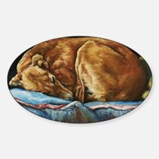 Saluki Sleeping Sticker (Oval)