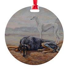 Saluki in the Desert Ornament