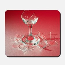Glass shattered by sound Mousepad