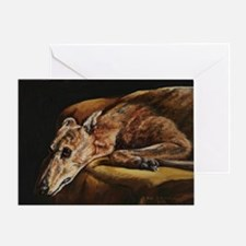 Greyhound Resting Greeting Card