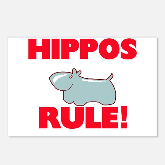 Hippos Rule! Postcards (Package of 8)