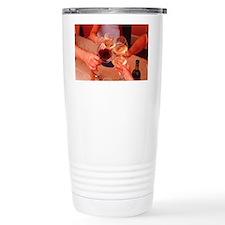 Glasses raised in toast Travel Coffee Mug
