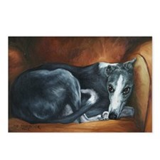 Whippet on Chair Postcards (Package of 8)